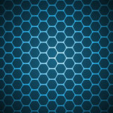 Vector abstract background. Blue vector abstract hexagon background pattern Royalty Free Stock Photos