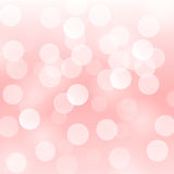 Vector abstract background with blurred defocused light pink bokeh lights Royalty Free Stock Images