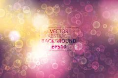 Vector abstract background with bokeh effect. Horisontal backdrop with lightimg. Colorful background for web. Stock Photos