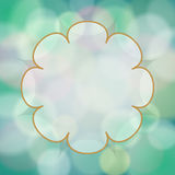 Vector abstract background with bokeh light effects. Vector abstract green bokeh background with place for your text royalty free illustration