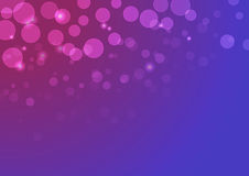 Vector abstract background with  bokeh lights and stars in violet colors. Royalty Free Stock Photos