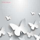 Vector abstract background with butterflies Stock Images