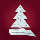 Vector abstract background with christmas tree. Vector abstract background with bent Christmas tree royalty free illustration