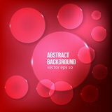 Vector abstract background. Circle red. And light Stock Photo