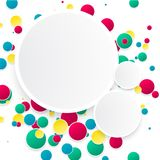 Vector abstract background. Circles and color texture Royalty Free Stock Photo
