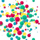 Vector abstract background. Circles and color texture Royalty Free Stock Photos