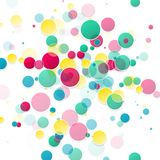 Vector abstract background. Circles and color texture Royalty Free Stock Image