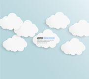 Vector abstract background bubble. Paper. Vector abstract background cloud. Paper royalty free illustration