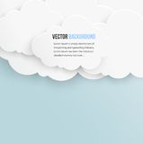 Vector abstract background bubble. Paper. Vector abstract background cloud. Paper stock illustration