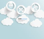 Vector abstract background bubble. Paper. Vector abstract background cloud. Paper vector illustration