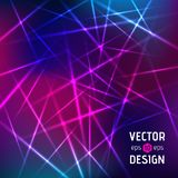 Vector abstract background of color laser beams Stock Photography