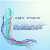 Vector Abstract background with color waves Stock Images