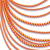 Vector abstract background with colored beads Stock Photography