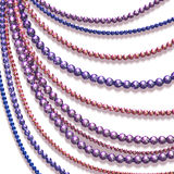 Vector abstract background with colored beads Stock Photos