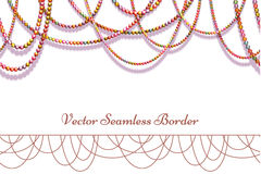 Vector abstract background with colored beads. Vector abstract background with colored beads for your presentation. Horisontal seamless pattern Royalty Free Stock Photos