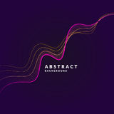 Vector abstract background with a colored dynamic waves, line and particles. Illustration in minimalistic style. Vector abstract background with a colored dotted stock illustration