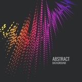Vector abstract background with a colored dynamic waves, line and particles. Illustration suitable for design Royalty Free Stock Images