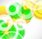 Vector abstract background: colorful circles. Vector abstract background with colorful circles Stock Images