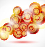 Vector abstract background: colorful circles Stock Photos