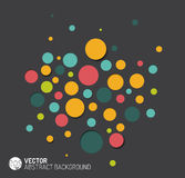 Vector abstract background with colorful circles. Vector dark abstract background with colorful circles and 3d effects stock illustration