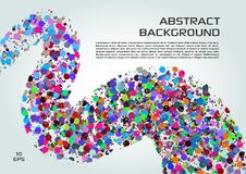 Vector abstract background with colorful dots in wave.  vector illustration