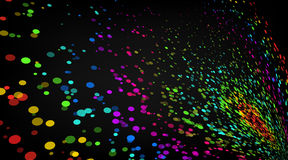 Vector abstract background. Colourful dots composition. Stock Images