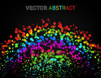 Vector abstract background. Colourful dots composition. Stock Photos