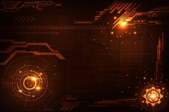 Vector abstract background in the concept of technology. Vector abstract background shows the innovation of technology and technology concepts vector illustration