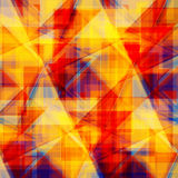 Vector abstract background. Consists of geometric elements. The elements have a triangular shape. In color Stock Photo