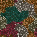 Vector abstract background - Cool cell structure, Constellation Stock Images