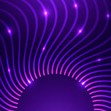 Vector abstract background with curves Royalty Free Stock Photography