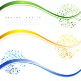 Vector abstract background design. Brochure design templates collection and waving Stock Images
