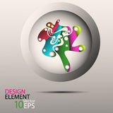 Vector abstract background and design element. Circle Royalty Free Stock Photography