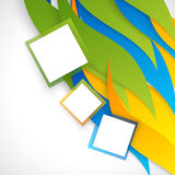 Vector abstract background design. Wavy.  Brochure design templates collection and squares Stock Photos