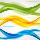 Vector abstract background design. Wavy.  Brochure design templates collection and waving Royalty Free Stock Image