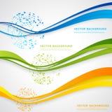 Vector abstract background design. Wavy.  Brochure design templates collection and waving Stock Photos