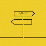 Vector abstract background with direction. Arrow sign. The concept of a decision making standing on road junction. Movement in an unknown direction. uncertainty Stock Photo