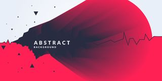 Vector abstract background with dynamic forms. Royalty Free Stock Images