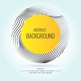 Vector abstract background with dynamic waves. Stock Images