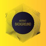 Vector abstract background with dynamic waves. Royalty Free Stock Photography