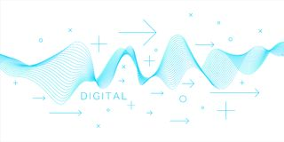 Vector abstract background with dynamic waves. Illustration suitable for design Stock Images