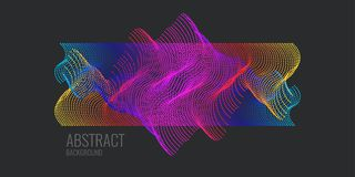 Vector abstract background with dynamic waves, line and particles. Illustration suitable for design Royalty Free Stock Images