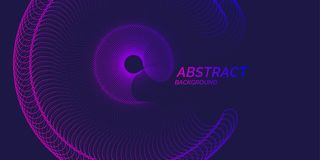 Vector abstract background with dynamic waves, line and particles. Vector illustration Royalty Free Stock Photography