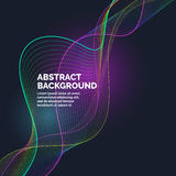 Vector abstract background with a dynamic waves and particles Stock Photo