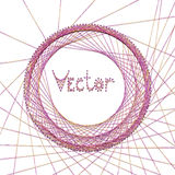 Vector abstract background with embroidery on Royalty Free Stock Photo