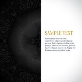 Vector abstract background. Floral pattern, gold pattern, vector Royalty Free Stock Photography
