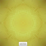 Vector abstract background. Floral pattern, gold pattern, vector Stock Image