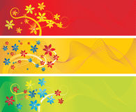 Vector abstract background with flower Stock Photography