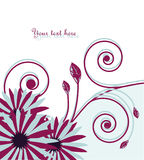 Vector abstract background with flowers Stock Image