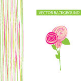 Vector abstract background with flowers Royalty Free Stock Image